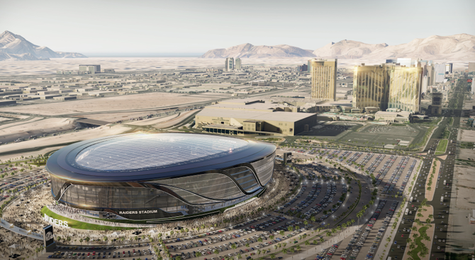 A rendering of the proposed Stadium from designer Manica Architecture