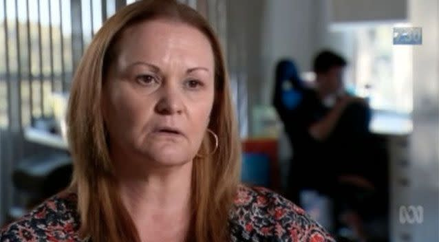 Lynda Jordan said her 'hysterical' son was locked inside the enclosure and left unsupervised. Photo: ABC