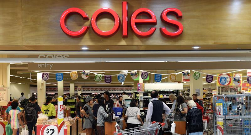 A stock image of a Coles supermarket. Another staff member has tested positive to coronavirus.