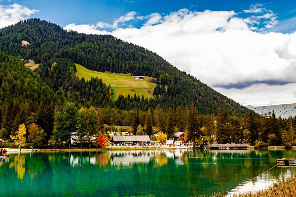 The Toblacher See is a lake in the municipality of Toblach in South Tyrol, Italy. (Photo: Newlander90 via Getty Images)