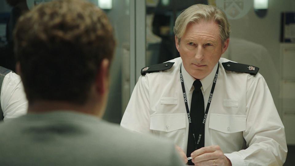 Programme Name: Line of Duty S6 - TX: 11/04/2021 - Episode: Line Of Duty - Ep 4 (No. n/a) - Picture Shows:  DCI Ian Buckells (NIGEL BOYLE), Superintendent Ted Hastings (ADRIAN DUNBAR) - (C) World Productions - Photographer: Screen Grab
