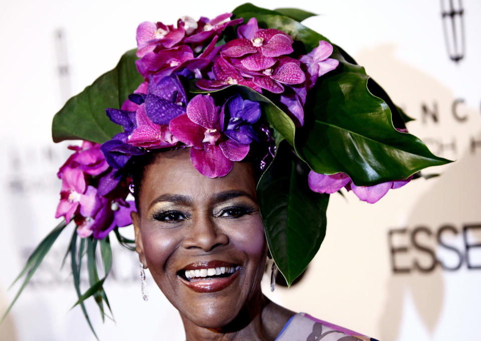"""FILE - Honoree Cicely Tyson arrives at the Essence Third Annual """"Black Women in Hollywood Luncheon"""" in Beverly Hills, Calif. on March 4, 2010. Tyson, the pioneering Black actress who gained an Oscar nomination for her role as the sharecropper's wife in """"Sounder,"""" a Tony Award in 2013 at age 88 and touched TV viewers' hearts in """"The Autobiography of Miss Jane Pittman,"""" has died. She was 96. Tyson's death was announced by her family, via her manager Larry Thompson, who did not immediately provide additional details. (AP Photo/Matt Sayles, File)"""