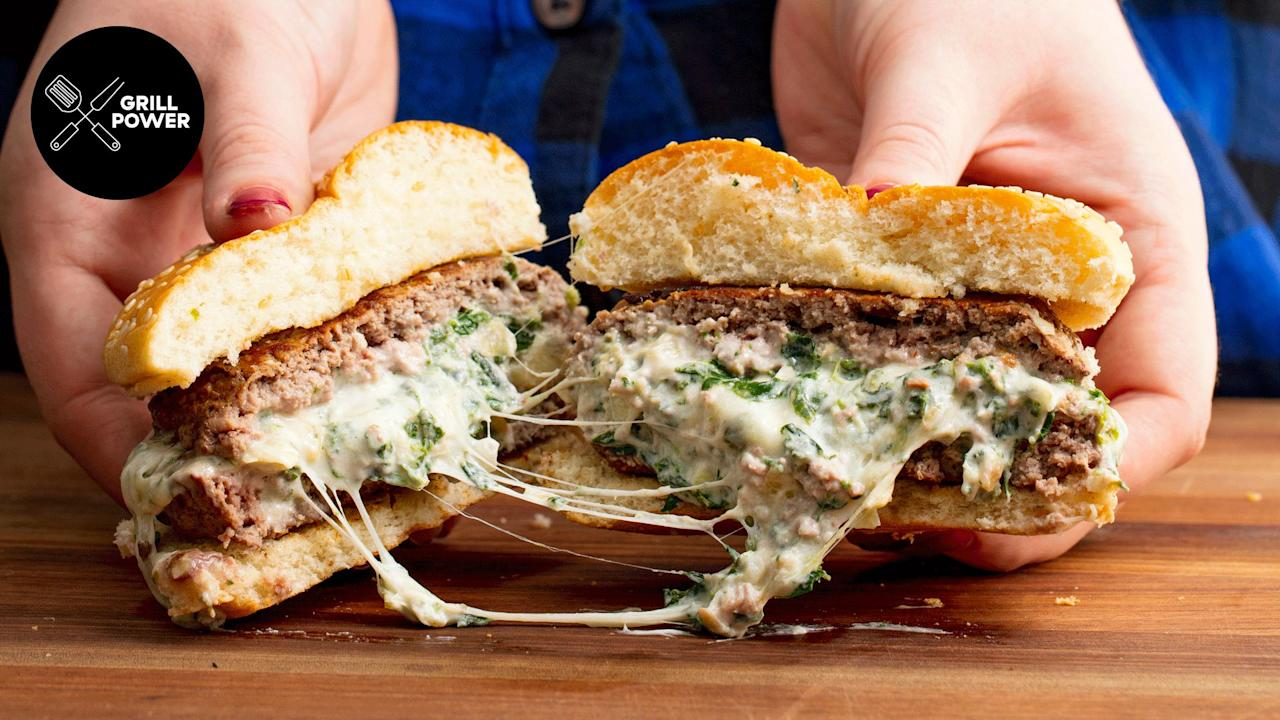 "<p>We can't think of a better way to celebrate summer than with these OMG-worthy hamburgers. Plus, try our <a rel=""nofollow"">over-the-top grilled burgers</a>, <a rel=""nofollow"">creative cheeseburgers</a>, <a rel=""nofollow"">easy veggie burgers</a>, and <a rel=""nofollow"">lighter turkey burger ideas</a>.</p>"