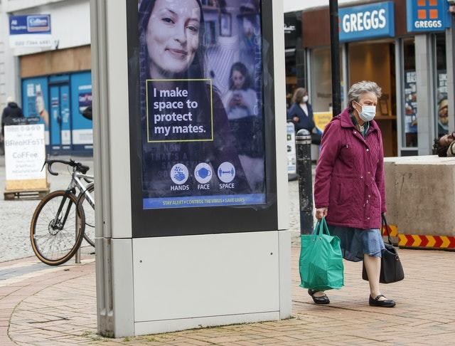A Government health warning is displayed in Sheffield