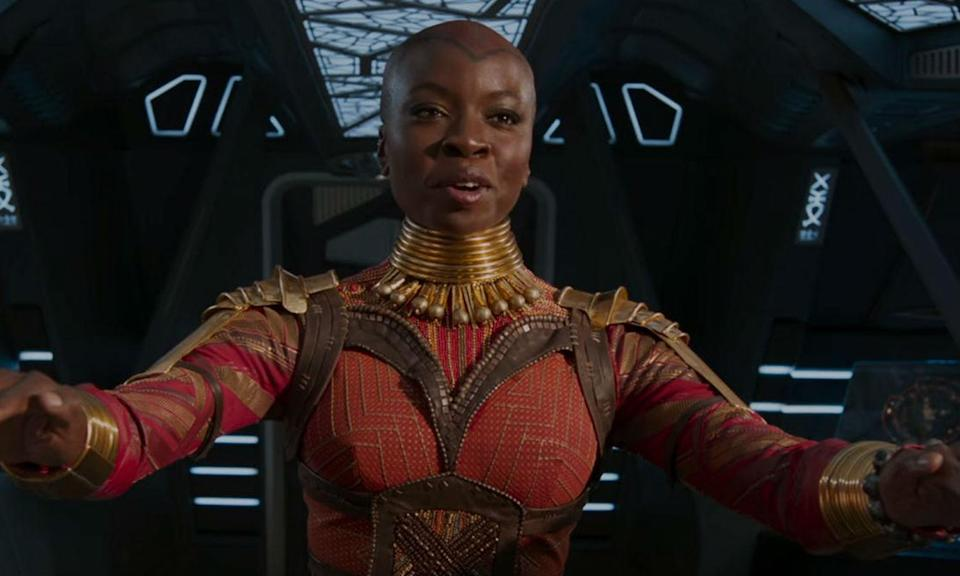 <p><span><strong>Played by:</strong> Danai Gurrai</span><br><strong>Last appearance: </strong><i><span>Black Panther</span></i><br><span><strong>What's she up to?</strong> Still standing by T'Challa's side as the leader of the Dora Milaje, Okoye was with him at the UN as he delivered his speech revealing the truth about Wakanda. Whether she's still with W'Kabi is another story.</span> </p>