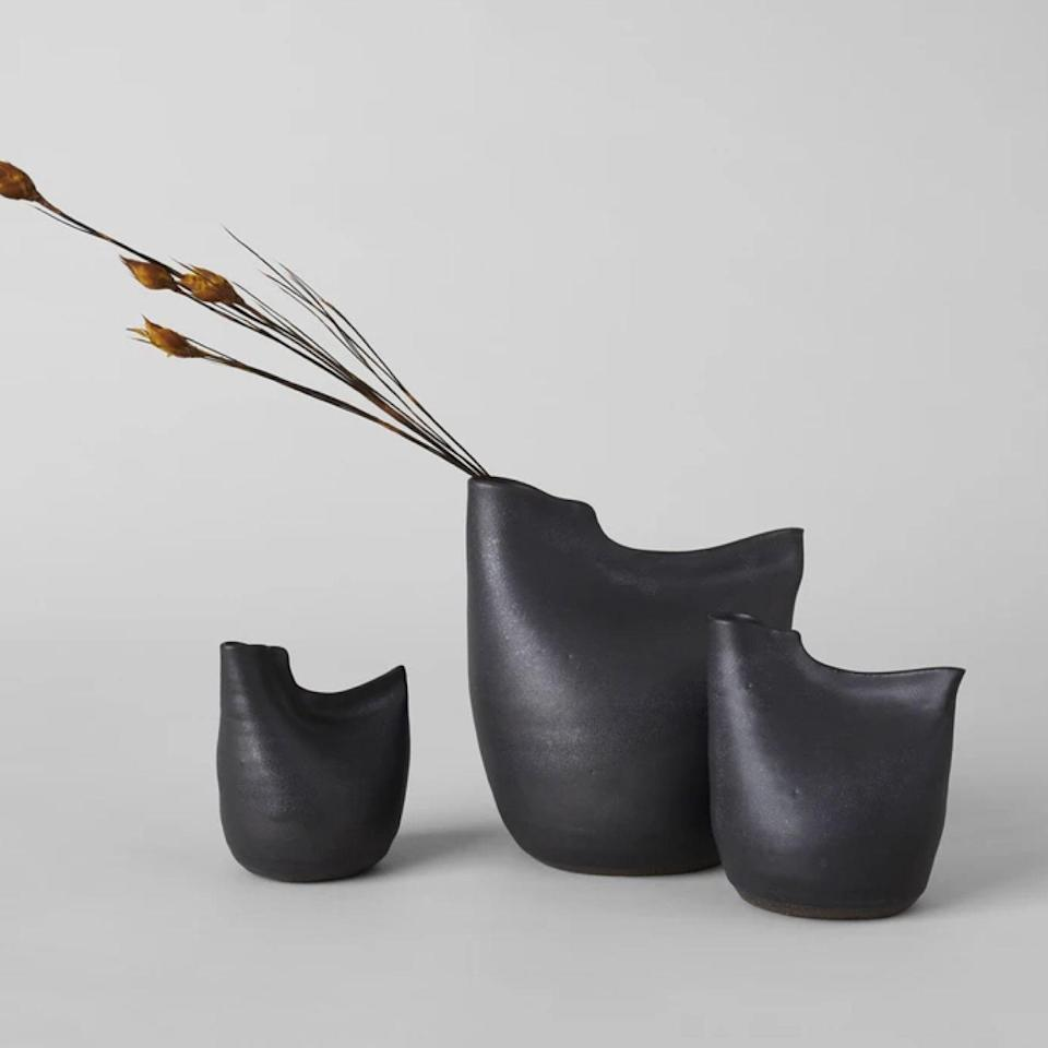 """These stoneware pitchers, inspired by birds, are hand-thrown on a wheel by artist Eric Bonnin and are available in three sizes. Snag the whole """"flock"""" and arrange them as a family on a credenza for a dose of modern whimsy. $38, Bloomist. <a href=""""https://bloomist.com/products/bird-vase"""" rel=""""nofollow noopener"""" target=""""_blank"""" data-ylk=""""slk:Get it now!"""" class=""""link rapid-noclick-resp"""">Get it now!</a>"""