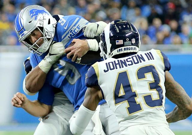 The Rams' John Johnson III fulfilled a childhood demand his father made of him. (Getty Images)