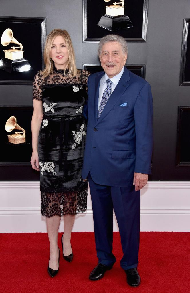 <p>Diana Krall and Tony Bennett attend the 61st annual Grammy Awards at Staples Center on Feb. 10, 2019, in Los Angeles. </p>
