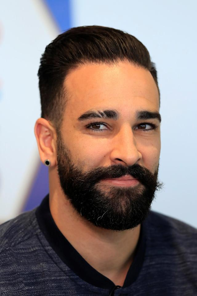 Soccer Football - FIFA World Cup - France Press Conference - Domaine de Montjoye, Clairefontaine, France - May 24, 2018 France's Adil Rami during the press conference REUTERS/Gonzalo Fuentes