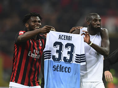 Serie A: AC Milan, Tiemoue Bakayoko and Franck Kessie reportedly fined for shirt prank after Lazio win