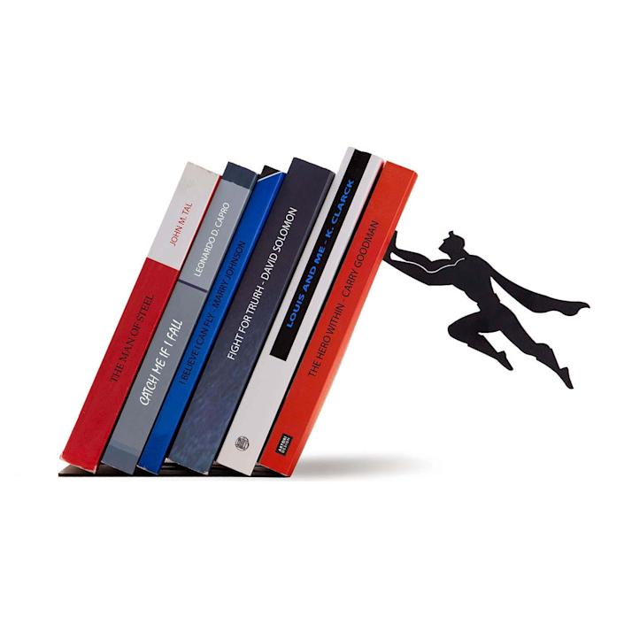 Artori Design's Book & Hero bookend, available through Amazon