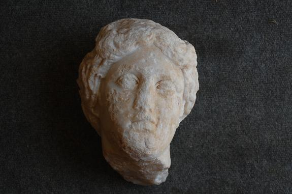 The head of an Aphrodite sculpture was discovered in southern Turkey during archaeological excavations.