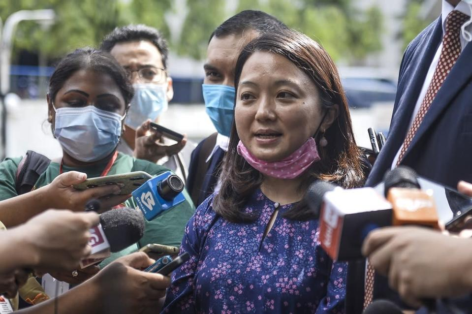Segambut MP Hannah Yeoh who was on the side of the residents in her constituency, lauded today's decision at the Court of Appeal that ended a years-long legal challenge against the controversial development. ― Picture by Miera Zulyana