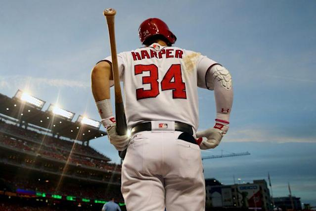 It might be now or never for the Nats and Bryce Harper. (Getty Images/Rob Tringali)