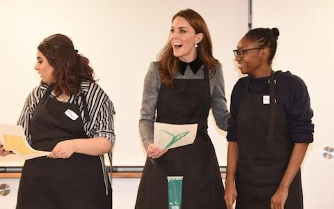 Kate tries her land at lino cutting - Credit: Eddie Mulholland