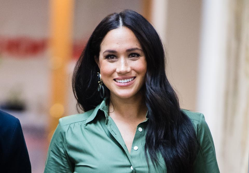 Meghan, Duchess of Sussex visits ActionAid during the royal tour of South Africa on October 01, 2019 in Johannesburg, South Africa. (Photo by Samir Hussein/WireImage)