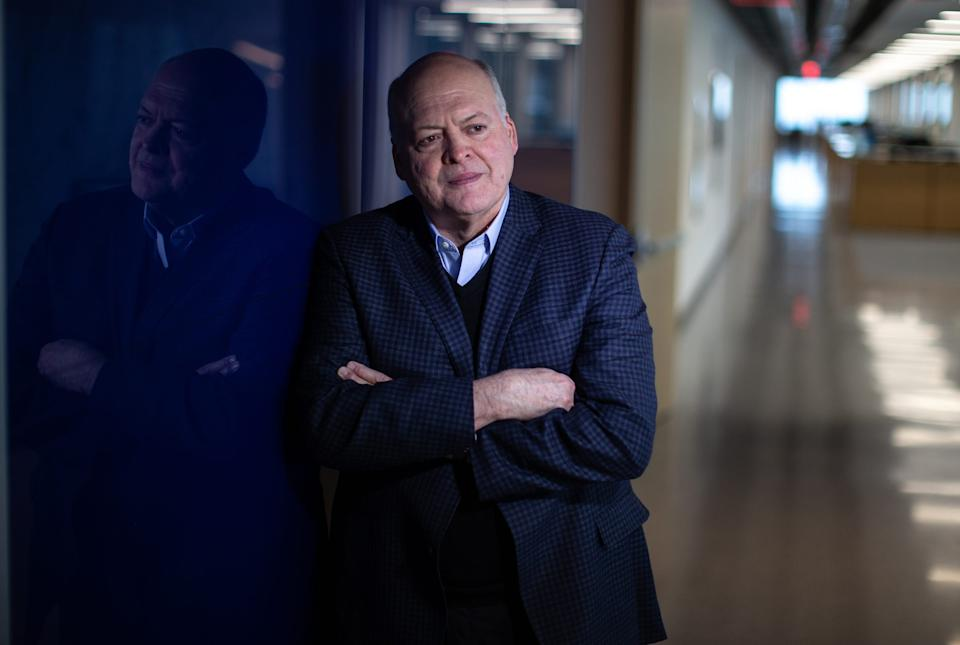 Ford Motor CEO Jim Hackett cautions employees about the coronavirus.