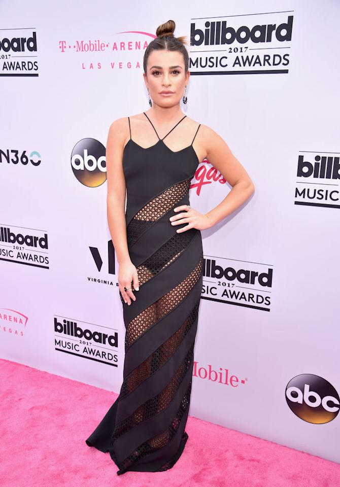 <p>The singer/actress doesn't leave much to the imagination in David Koma. (Photo: Getty Images) </p>