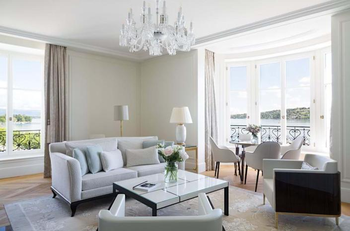 """<p>Geneva's first all-suite boutique hotel is set to open this year, overlooking the sparkling Lake Geneva and the majestic Mont Blanc. Renowned architect Pierre-Yves Rochon has overseen the transformation of the historic post-Haussmann-style building that will feature dining offerings from Michelin star chefs, a Guerlain Paris spa and wellness institute, along with an array of drinking establishments. <a href=""""https://www.oetkercollection.com/hotels/the-woodward/"""" rel=""""nofollow noopener"""" target=""""_blank"""" data-ylk=""""slk:The Woodward Geneva"""" class=""""link rapid-noclick-resp"""">The Woodward Geneva</a> will also house two bars, a tea room, and a private digestif and cigar lounge.</p><p><em>The Woodward Geneva will open in September 2021. Nightly rates will start at approximately $1,197.</em></p>"""