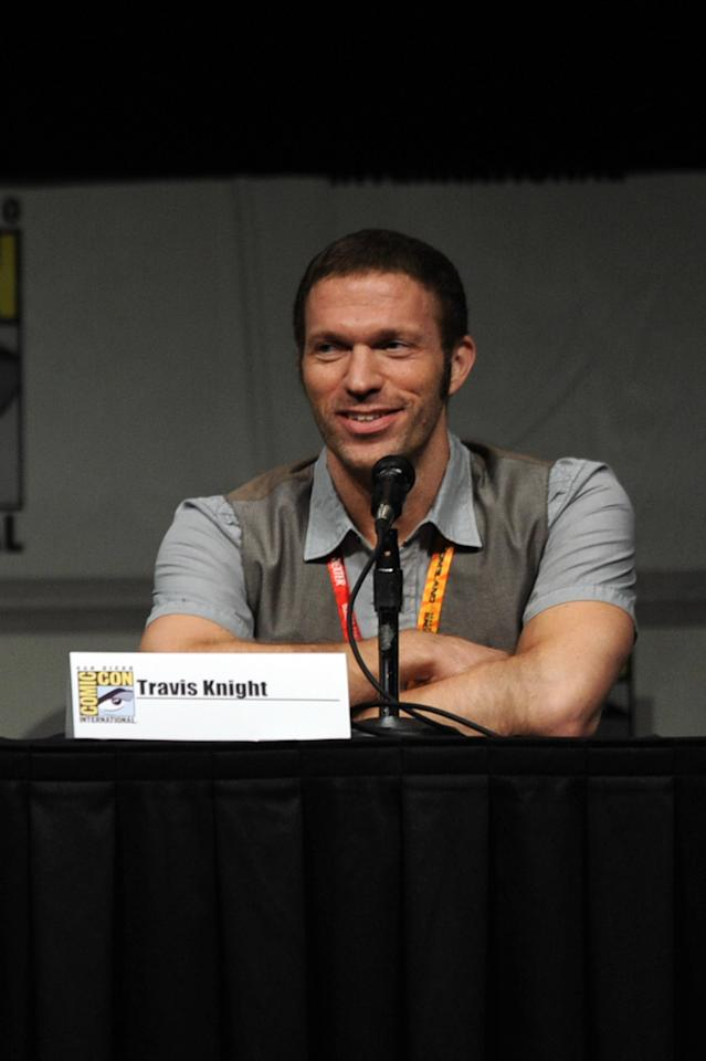 """SAN DIEGO, CA - JULY 13:  Producer Travis Knight speaks at the """"Paranorman: Behind The Scenes"""" panel during Comic-Con International 2012 at San Diego Convention Center on July 13, 2012 in San Diego, California.  (Photo by Kevin Winter/Getty Images)"""