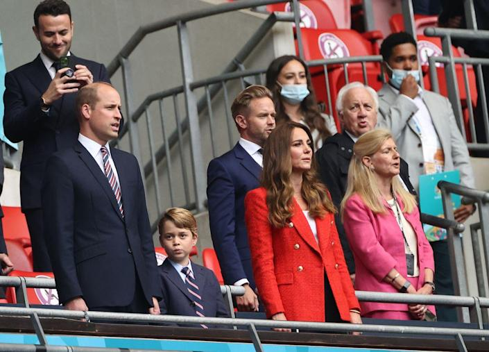 <p>Prince George joined his parents at the England vs Germany match at Wembley Stadium. </p>