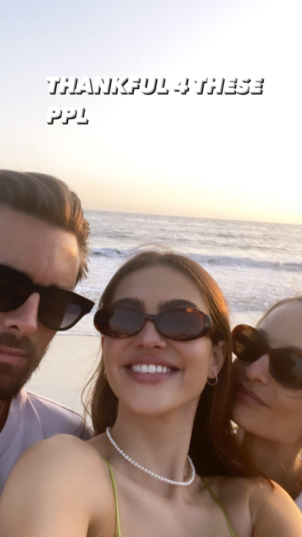 """<p>""""Thankful 4 these ppl,"""" Hamlin <a href=""""https://people.com/tv/amelia-hamlin-thankful-for-scott-disick-and-family-thanksgiving/"""" rel=""""nofollow noopener"""" target=""""_blank"""" data-ylk=""""slk:shared on her Instagram story"""" class=""""link rapid-noclick-resp"""">shared on her Instagram story</a>, alongside a selfie with Scott Disick and another pal. </p>"""