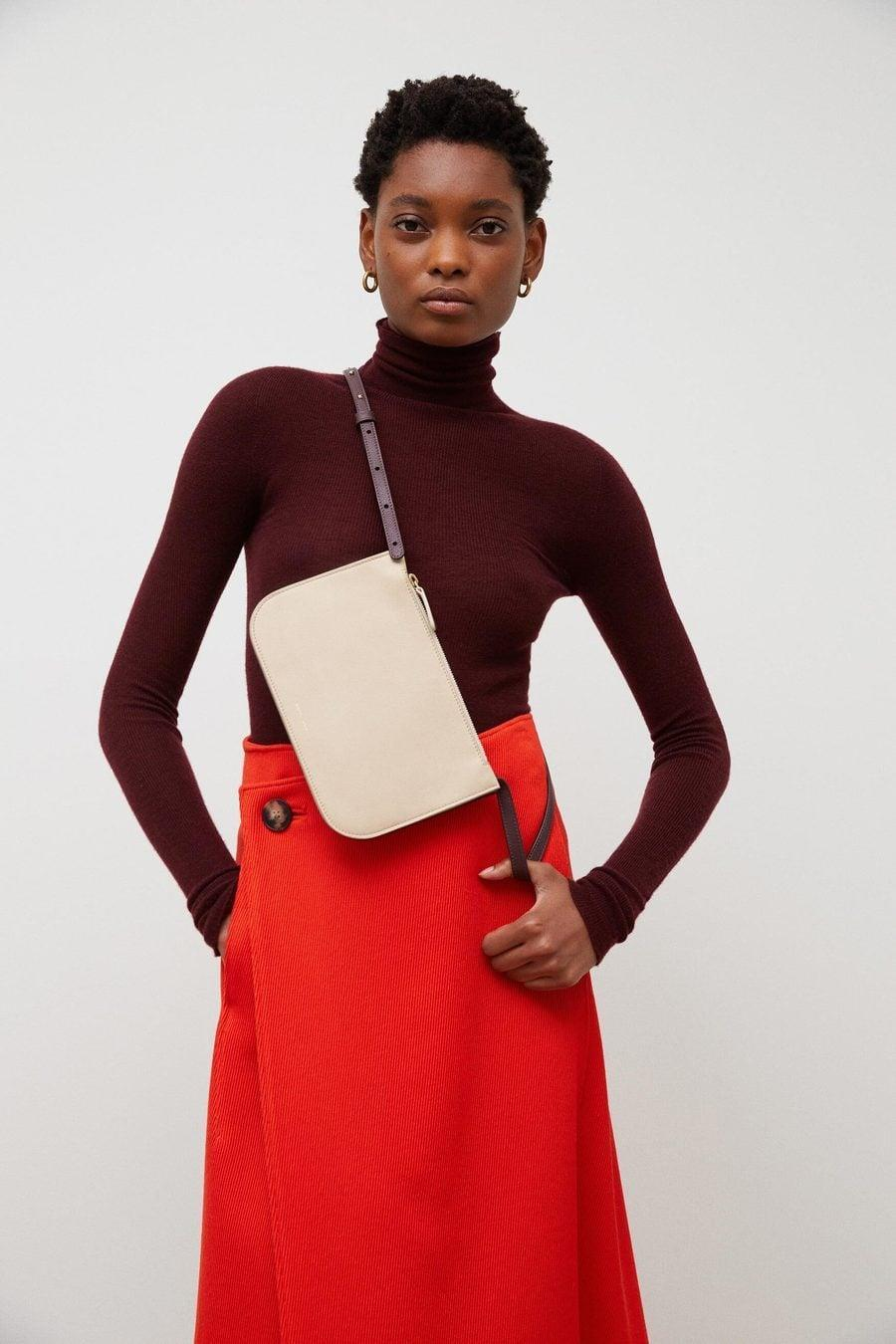 <p>This <span>Mansur Gavriel Double Crossbody</span> ($395) is always an easy and chic choice.</p>