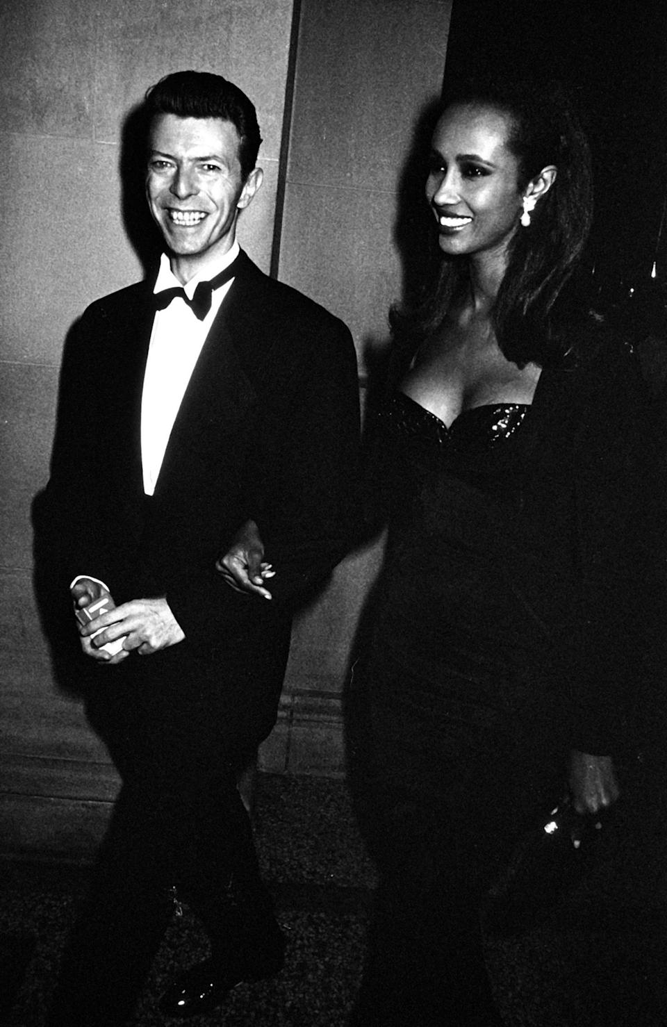 David Bowie and Iman, 1990