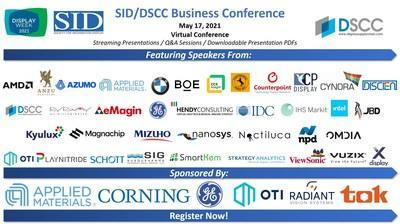 The SID/DSCC Business Conference Begins May 17 during Display Week 2021