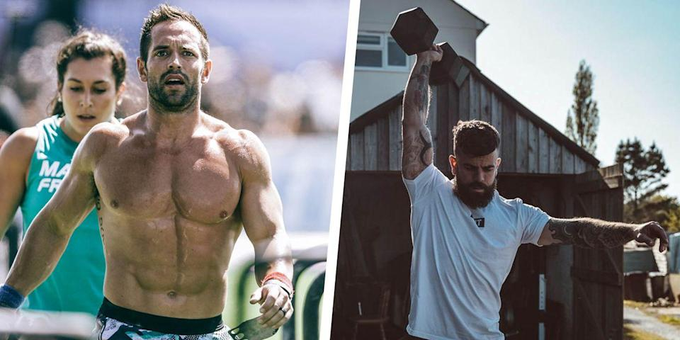 """<p><strong>You'll need: We have given you three options for each movement. This means you can freely adapt each element to your skill level and available kit, so everyone can still get the same stimulus</strong></p><p><a href=""""https://www.menshealth.com/uk/building-muscle/g749892/beginners-home-workout/"""" rel=""""nofollow noopener"""" target=""""_blank"""" data-ylk=""""slk:Staying fit and healthy at home"""" class=""""link rapid-noclick-resp"""">Staying fit and healthy at home</a> can be as simple as doing a lot of burpees. But, let's be honest, they suck. Thankfully, if you want to truly push yourself, improve your fitness and build a stronger, <a href=""""https://www.menshealth.com/uk/workouts/a29396645/lean-muscle-bodyweight-workout/"""" rel=""""nofollow noopener"""" target=""""_blank"""" data-ylk=""""slk:leaner body"""" class=""""link rapid-noclick-resp"""">leaner body</a> during lockdown, you just need to work with what you've got around the house. This adaptation of the <a href=""""https://www.menshealth.com/uk/fitness/a26797763/best-crossfit-workouts/"""" rel=""""nofollow noopener"""" target=""""_blank"""" data-ylk=""""slk:CrossFit Hero Workout"""" class=""""link rapid-noclick-resp"""">CrossFit Hero Workout</a> 'Bruce Gary' has been specially designed by Scott Britton, to give you the challenge of 300 reps regardless of what equipment you can lay your hands on.</p><p>In our challenge, you're going to go down the ladder, then back up - 50, 40, 30, 20, 10, 20, 30, 40, 50. So you do 50 step-ups, 50 push presses and 50 reps on the rope, then 40 or each and so on.<br><br><strong>1) Step Up / Step Over / Box Jump<br></strong>For the step overs, start standing to the side of a chair, box or bench. Lift one foot onto the surface and power the rest of your body upward (<strong>A</strong>). At the top, stand up straight then step down to the opposite side of the box (<strong>B</strong>). Repeat, alternating sides, for all your reps. If those are to hard, scale to a straight step up and step down on the front of the chair. If you want even more of chall"""