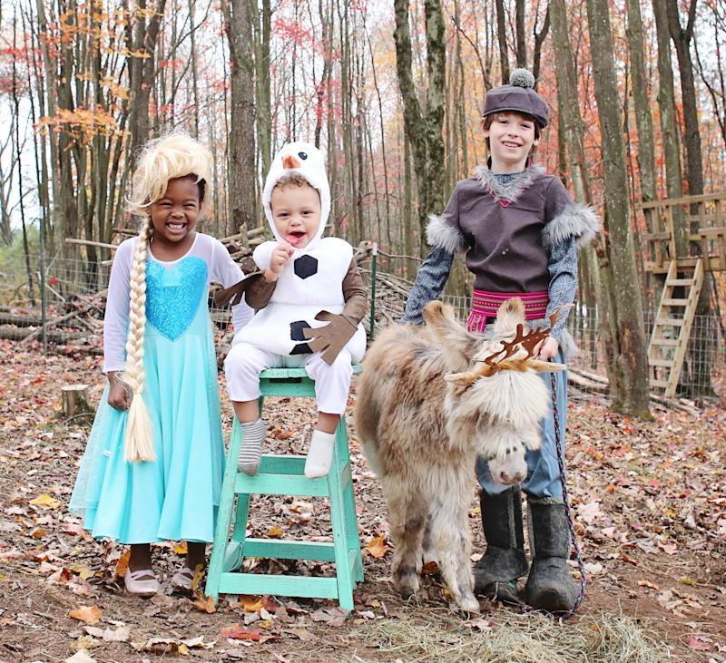 "Bonnice photographs her children's Halloween dress-up adventures with their animal friends for an Instagram series she calls <a href=""https://www.instagram.com/explore/tags/sweetfluffdressup/"" target=""_blank"">#SweetFluffDressUp</a>. (Lindsey Bonnice/Live Sweet Photography)"