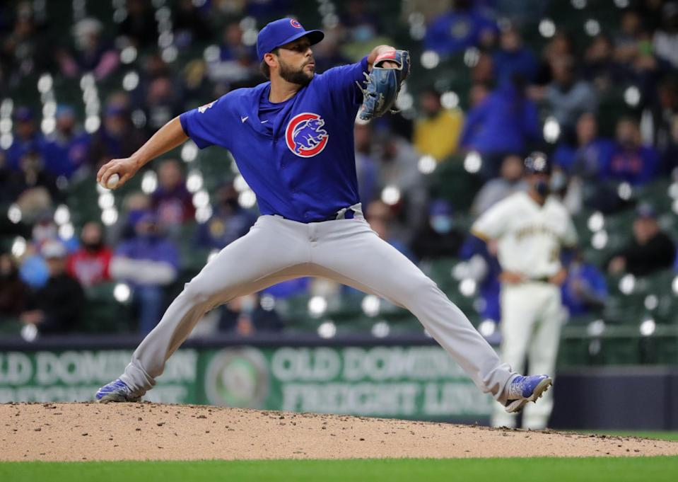 Relief pitcher Ryan Tepera delivered a scoreless fifth inning for the Cubs against the Brewers.