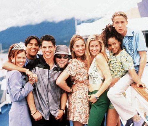 <p>Yes, that's Ryan Gosling on the right in this picture, and no, I am not okay. You might not remember <em>Breaker High</em> because it was only on for one season, but guys, we need to discuss the plot: It's about a group of kids who go to high school on a cruise ship. If you can find a way to stream this show today, you are a better internet sleuth than I.</p>