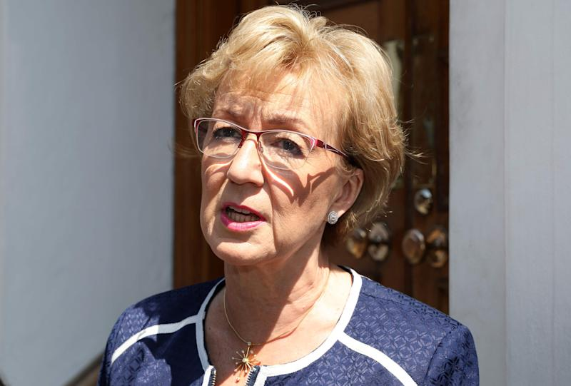 Britain's former Leader of the House of Commons Andrea Leadsom in London on May 23, 2019.