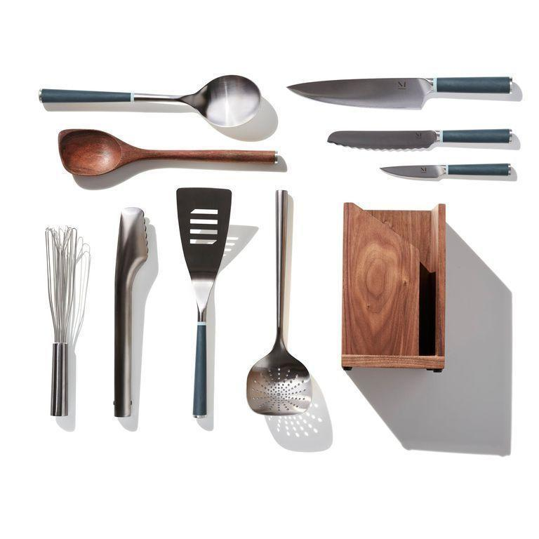 """<p>materialkitchen.com</p><p><strong>$245.00</strong></p><p><a href=""""https://go.redirectingat.com?id=74968X1596630&url=https%3A%2F%2Fmaterialkitchen.com%2Fproducts%2Fthe-iconics%3Fsscid%3D41k3_8xrfk&sref=https%3A%2F%2Fwww.redbookmag.com%2Flife%2Fg34761881%2Fgift-ideas-for-men%2F"""" rel=""""nofollow noopener"""" target=""""_blank"""" data-ylk=""""slk:Shop Now"""" class=""""link rapid-noclick-resp"""">Shop Now</a></p><p>For the guy who is ready to get serious in the kitchen, this curated set includes everything he'll need to start his culinary journey. </p><p><strong>More:</strong><a href=""""http://www.townandcountrymag.com/leisure/dining/g29833605/top-cooking-gifts/"""" rel=""""nofollow noopener"""" target=""""_blank"""" data-ylk=""""slk:Cooking Gifts for the Foodie in Your Life"""" class=""""link rapid-noclick-resp""""> Cooking Gifts for the Foodie in Your Life</a></p>"""