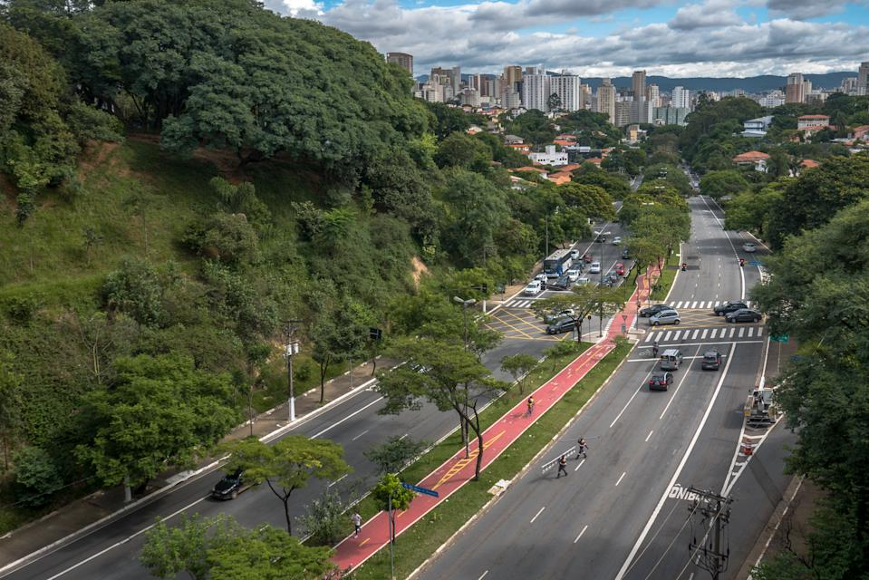 View of the Avenue Sumaré and  Sumaré neighborhood from the top of the Avenue Dr.Arnaldo.