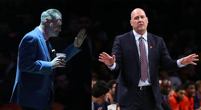 With Toronto up 25 and just over a minute remaining in the fourth quarter, Jack Armstrong wasn't happy with the unnecessary delay forced by Jim Boylen. (Getty Images)