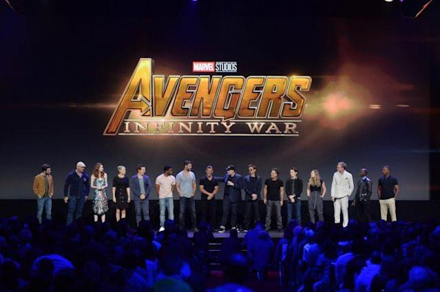 <strong>The Avengers assembled at D23 Expo (Photo: Disney)</strong>