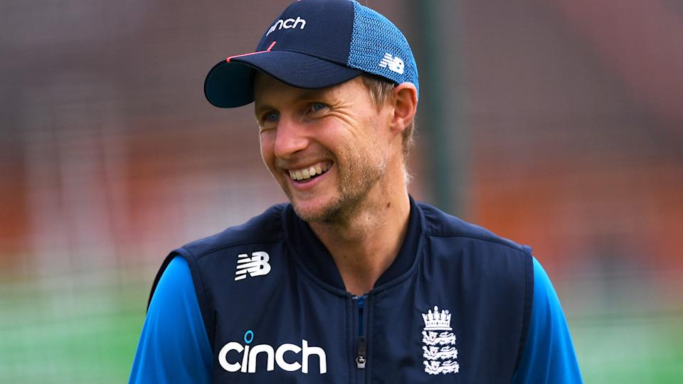 England captain Joe Root has hit three centuries in as many Test against India in their series, which is heading into game four this week. (Photo by Gareth Copley/Getty Images)