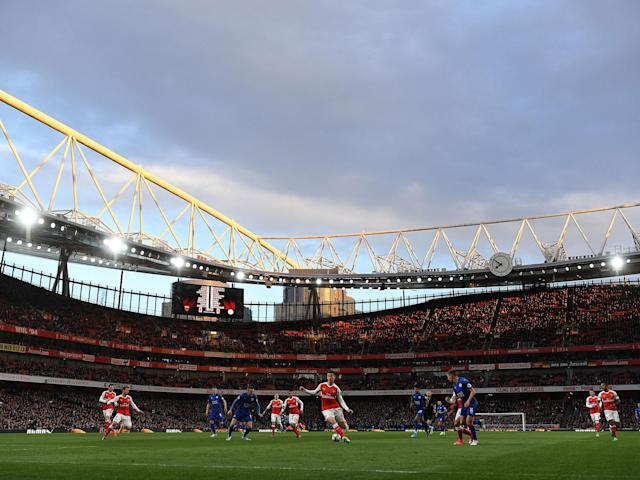 A general view of the Emirates with the two sides in action: Getty