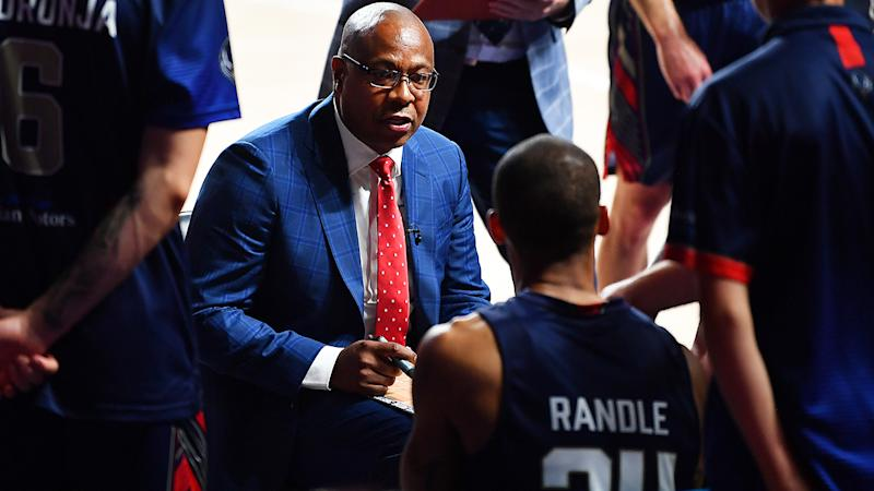 Joey Wright coaching the Adelaide 36ers against Cairns Taipans. (Photo by Mark Brake/Getty Images)