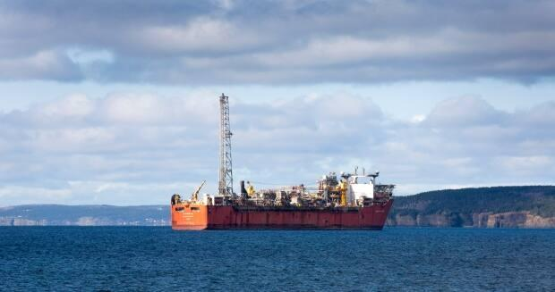 The Terra Nova FPSO is shown anchored in Conception Bay, N.L., in October. Plans to refit the vessel, which began operating on the Grand Banks in 2002, were interrupted last winter due to the pandemic, and now there are doubts about its future.