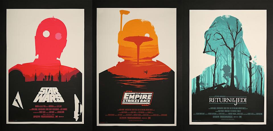 Olly Moss's iconic 2010 Star Wars poster catapulted the artist to fame and ushered in a new era of alternate poster designs. (Prop Store)