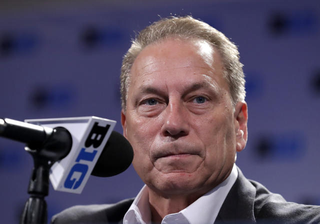 Michigan State head coach Tom Izzo defended his handling of sexual assault allegations made against his former players. (AP Photo/Nam Y. Huh)