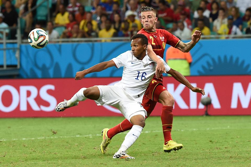 Six years have passed since Julian Green (left) scored against Belgium at the 2014 World Cup. (Francisco Leong/Getty Images)