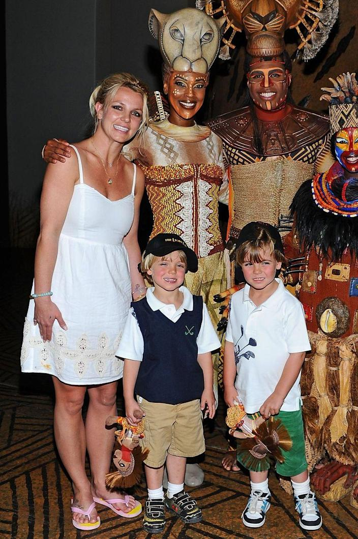 <p>Britney Spears had two sons during her marriage to Kevin Federline, born in 2005 and 2006.</p>