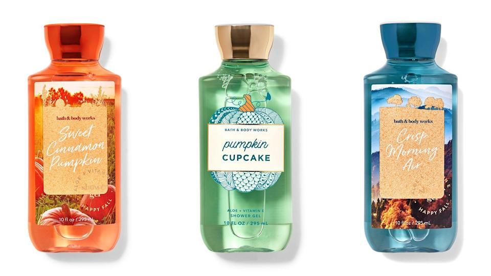 Spruce up your shower routine with Bath & Body Works shower gels.