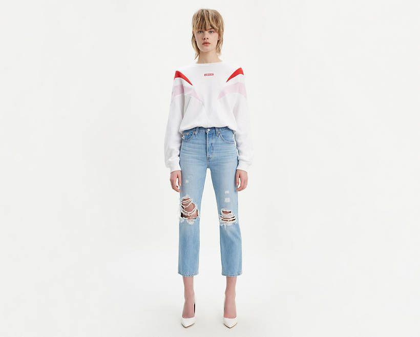"""<p><strong>Levi's</strong></p><p>levi.com</p><p><strong>$47.97</strong></p><p><a href=""""https://go.redirectingat.com?id=74968X1596630&url=https%3A%2F%2Fwww.levi.com%2FUS%2Fen_US%2Fapparel%2Fclothing%2Fbottoms%2F501-original-cropped-ripped-womens-jeans%2Fp%2F362000072&sref=https%3A%2F%2Fwww.cosmopolitan.com%2Fstyle-beauty%2Ffashion%2Fg33460934%2Flevis-2020-sale-ribcage%2F"""" rel=""""nofollow noopener"""" target=""""_blank"""" data-ylk=""""slk:SHOP NOW"""" class=""""link rapid-noclick-resp"""">SHOP NOW</a></p><p><strong><del>$98</del> <del>$82.98</del> $50 (with extra 40% off) </strong></p>"""