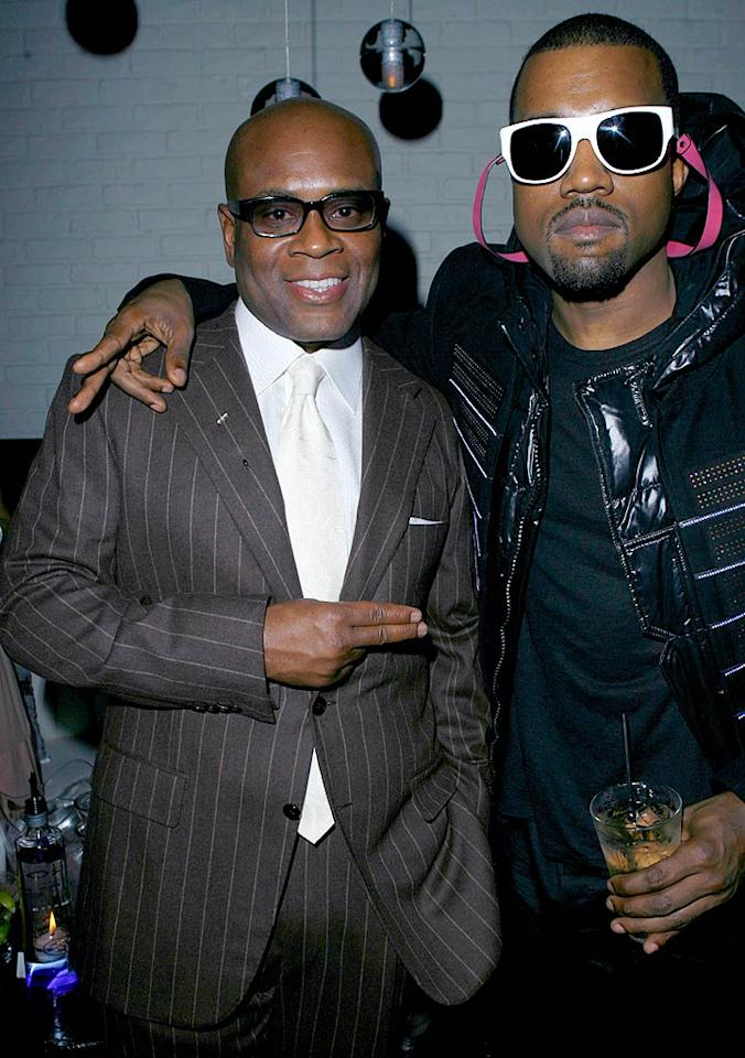 "Antonio ""L.A."" Reid and Kanye West partied at Entertainment Weekly's bash at STK LA, which celebrated the successful songwriter/record producer responsible for helping to launch the careers of such artists as TLC, Usher, OutKast, and Avril Lavigne. Jeff Vespa/<a href=""http://www.wireimage.com"" target=""new"">WireImage.com</a> - February 10, 2008"