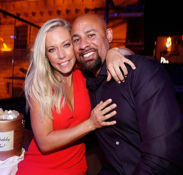 "<p>When news broke in 2014 that Hank reportedly cheated Kendra — who was eight months pregnant at the time — with a transgender model it seemed too salacious to be believed. However, the former NFL plater later acknowledged he made a mistake. ""I messed up,"" <a href=""http://people.com/tv/kendra-wilkinson-hank-baskett-reveal-the-truth-about-sex-scandal/"" rel=""nofollow noopener"" target=""_blank"" data-ylk=""slk:a teary-eyed Baskett told People"" class=""link rapid-noclick-resp"">a teary-eyed Baskett told <em>People</em></a> one-year later. ""I put myself in a bad situation. And everything through me brought pain upon this family."" Although he never fully admitting to cheating on the <em>Girls Next Door</em> star, Baskett did admit to being ""fondled,"" but then got himself out of the situation. ""Hank was very naïve and gullible,"" Kendra told the magazine. ""He thinks everybody is his friend. That led him to the hell that we've lived."" (Photo: Isaac Brekken/Getty Images for WE tv) </p>"